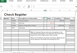 check register check register template for excel