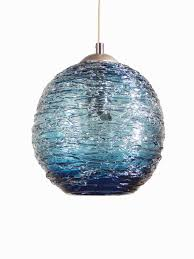 hand blown glass pendant lights inspirational steel blue spun hand blown glass pendant hanging lights by