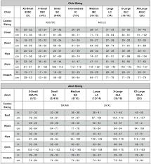 Size Chart Weissmans 2019 Tiffanys Dance Academy