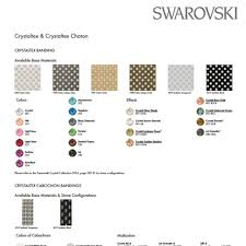 Swarovski Crystaltex Colour Chart Stephen Arnold Ltd