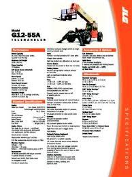 Jlg G12 55a Load Chart Telehandlers Jlg Specifications Cranemarket Page 2