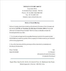 Meeting Notice Templates Under Fontanacountryinn Com