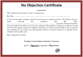 Format Of Noc Certificate What Is Noc Certificate Meaning Importance Format