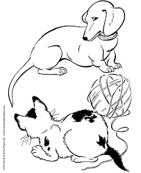 Dog Coloring Pages Printable Dachshund Dog Coloring Page Sheet And