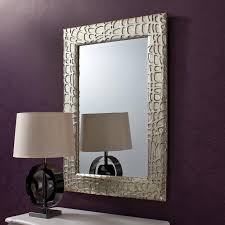 images of framed wall mirrors | Silver Contemporary Framed Wall Mirror -  213.00 - Bedroom