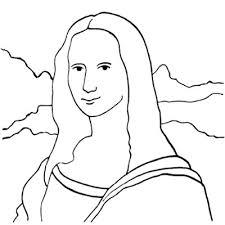 Mona Lisa Line Art Marvelous Mona Lisa Coloring Page 41 About