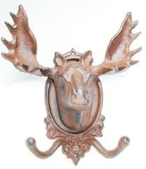 Moose Coat Rack Moose Coat Rack Hat Rack Wall Plaque Head Cast Iron Antlers Amazon 80