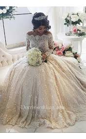 princess wedding dresses. Beautiful Lace Long Sleeve Princess Wedding Dresses 2018 Ball Gown