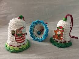 3 Klingeln Christbaumschmuck Gehäkelt Weihnachten