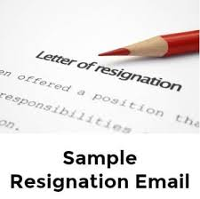 Resign Template Sample Resignation Email