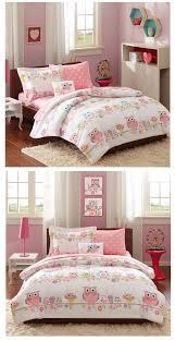 fun pink owl bedding girls comforter twin full queen comforter bed