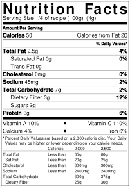 nutrition facts print label