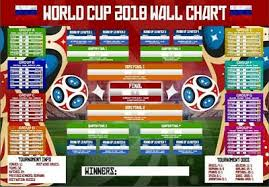 World Cup Planner Chart 2018 World Cup Wall Chart 2018 Russia Planner Fixtures Football