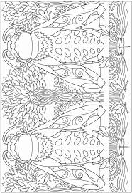 Beetles Abstract Doodle Zentangle Coloring Pages Colouring Adult