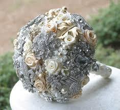 wedding flowers memphis cheerseventplanning 2374495714 6852b78bd5 beautiful pretty diy non floral alternative pearl crystal bridal wedding bouquet vintage inspired elegant anna sinclair bouquets