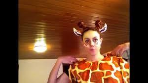 giraffe costume make up