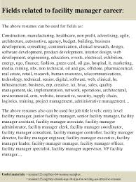 ... 16. Fields related to facility manager ...