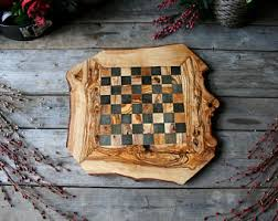 Game With Rocks And Wooden Board Checker board Etsy 32