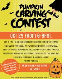 pumpkin carving contest flyer free pumpkins and carving contest at whole foods georgetown