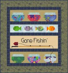 Gone Fishing Quilt Pattern by Cute Quilt Patterns at KayeWood.com &  Adamdwight.com