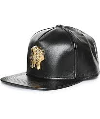 the gold golds pharaoh nappa leather strapback hat