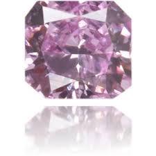 <b>Natural</b> Purple <b>Diamond Square</b> 0.11 ct Polished