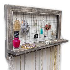 wall hanging jewelry organizer v sanctuary com new earring and necklace holder
