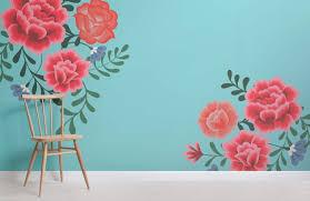 Wallpaper flower Rose Blue Frida Kahlo Flower Wallpaper Mural Murals Wallpaper Blue Frida Kahlo Flower Wallpaper Muralswallpaper
