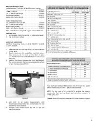 Engine Displacement Chart S S Cycle Manifold Engine Measuring Tools User Manual Page