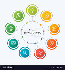 Chart Presentation Images Presentation Circle Chart Template With 9 Options