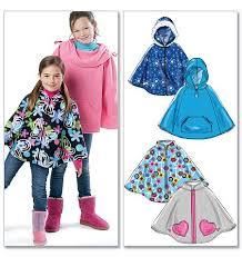 Fleece Poncho Pattern With Hood Beauteous Girls Fleece Poncho McCall's 48 Babies Pinterest Fleece
