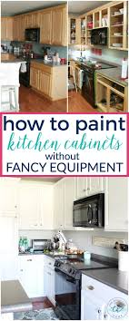paint kitchen cabinets without sandingHow to Paint Kitchen Cabinets without Fancy Equipment