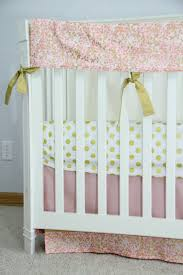 the eloise collection blush pink peach c and metallic gold gold rush in pink baby bedding