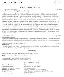 Marketing Resume Objectives Examples With Professional Experience As