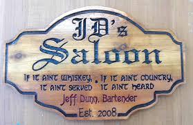 rb27155 antiqued wood old west j d s saloon sign