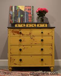 ideas for painted furniture. Vintage Sunflower Painted Dresser With Toned Yellow And Black Drawer Knbos For Your Interior Old-Style Ideas Furniture