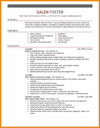Resume For Cleaning Best Cleaning Professionals Resume Example