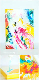abstract acrylic painting ideas marble effect easy abstract acrylic painting ideas