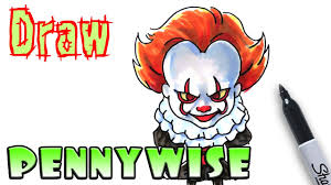 How To Draw Pennywise Clown It Coloring Pages Youtube
