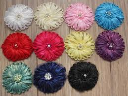 120pcs tulle fabric flower for girls headbands diy crafting flowers for kids 11 colors to choose