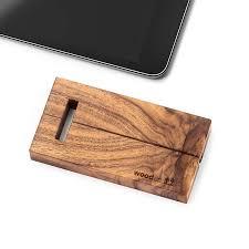 deer wooden travel ipad stand