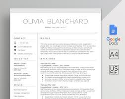 Modern Resume Template Google Docs Google Docs Resume Template Google Docs Cv Template Cover Etsy