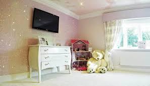 glitter wallpaper in a child s bedroom