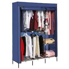 68 portable closet storage organizer wardrobe clothes rack with shelves com