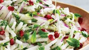 the jicama and pomegranate slaw is your new lunchtime best friend
