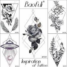 309 руб 5 скидкаbaofuli треугольник ромб временная наклейка татуировки