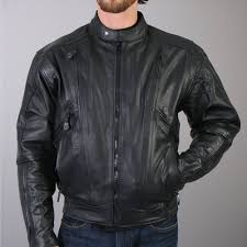 hot leathers men s vented motorcycle leather jacket