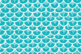 Fish Pattern Magnificent Fish Scales Seamless Pattern Cartoon Graphic Patterns Creative