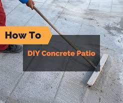 diy concrete patio how to pour your