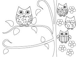 Owl Coloring Pages Free Printable Free Printable Coloring Pages Of